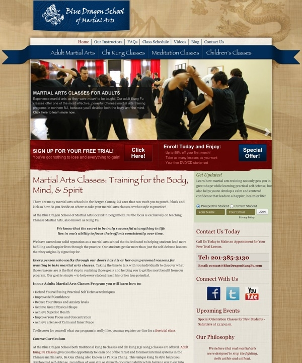 Martial Arts Classes BodyMind Training - Blue Dragon School of MA