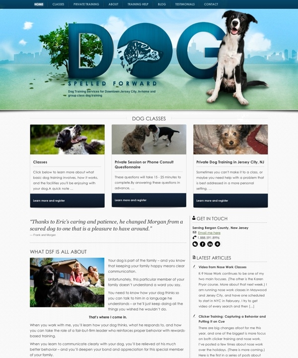 Dog Spelled Forward - Dog Training Services for Downtown Jersey City, In-home and group class dog training