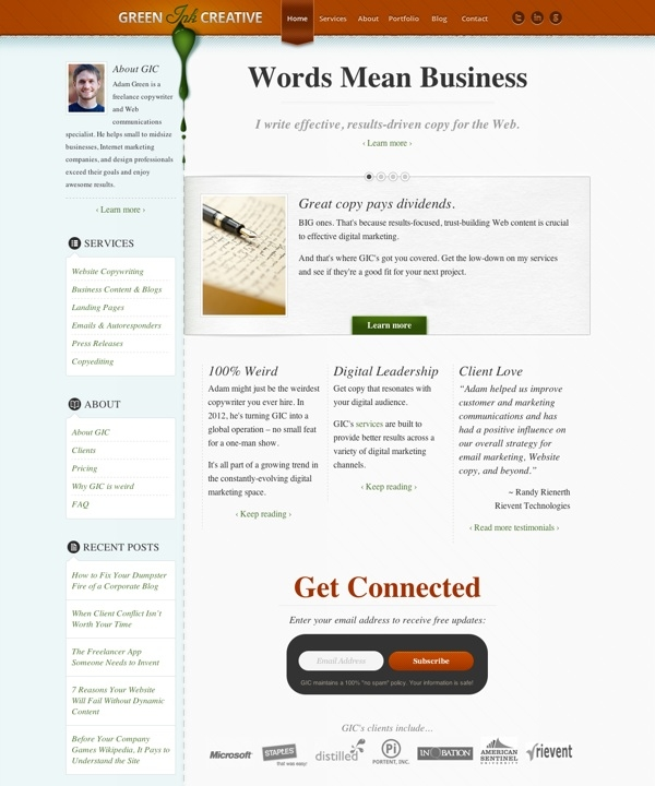 Green Ink Creative – Freelance Copywriter, Atlanta Copywriter, Business Content Writer