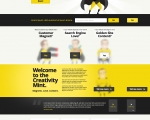 Creativity Mint - Site Design (Home Page)