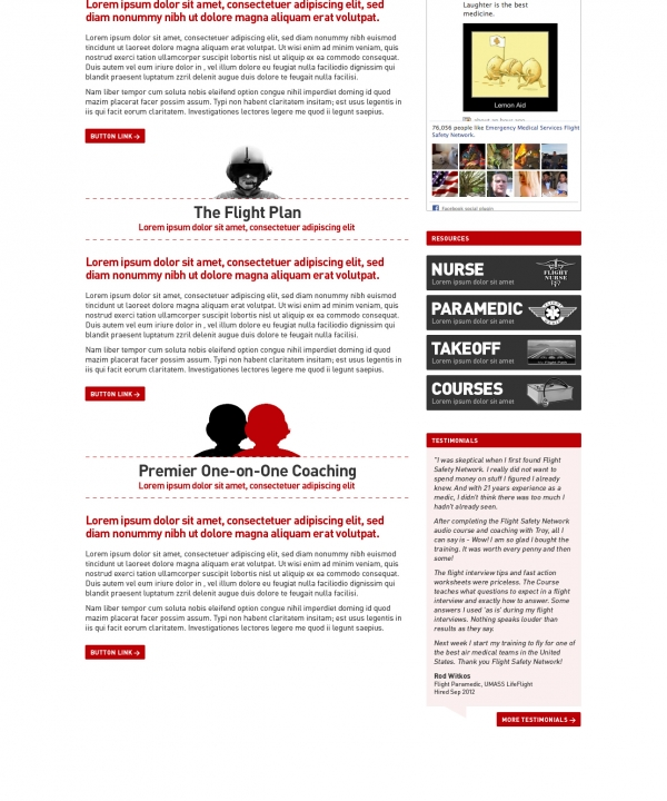 EMS - Site Design (Other Main Page)