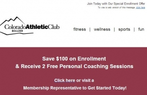 Promotion Email from CAC